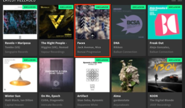 JACK AVENUE – FACES FEATURED BY BEATPORT