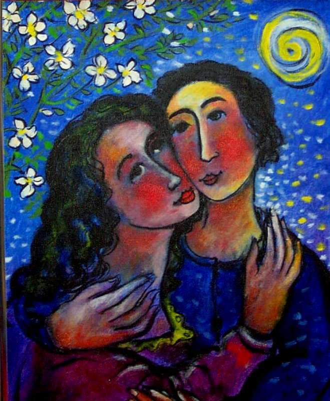 image of lovers under the moon