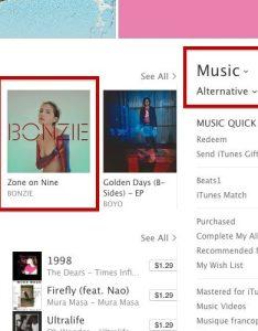 Zone on nine itunes top alternative chart also bonzie rh