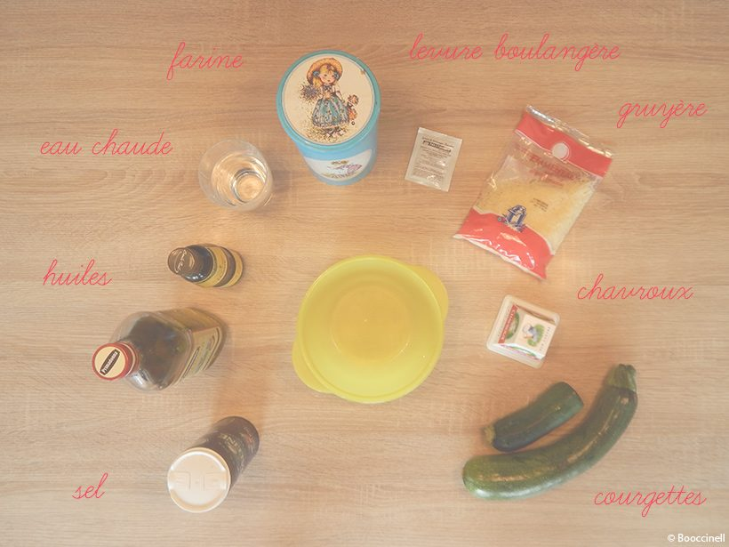 tarte-courgettes-chevre-miel-ingredients