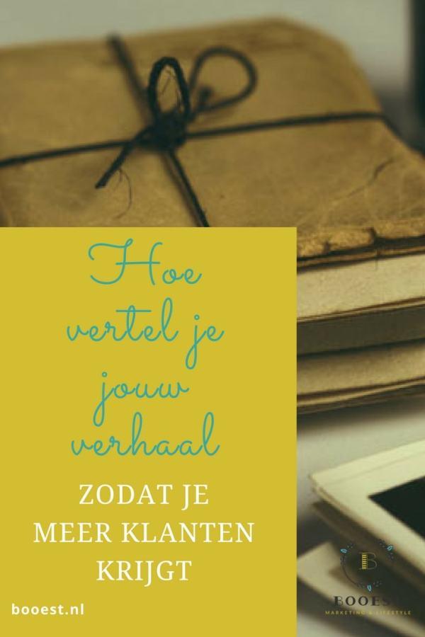 Hoe vertel je jouw verhaal zodat je meer klanten krijgt http://booest.nl/je-verhaal-vertellen-om-meer-klanten-te-krijgen/