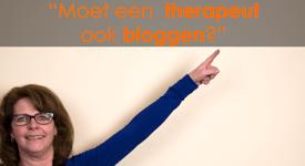 moet een therapeut bloggen