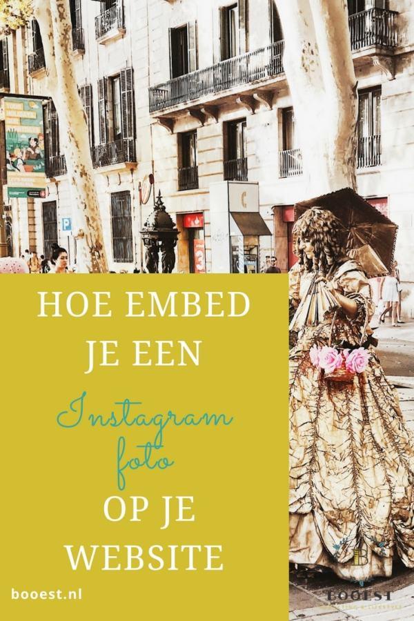 hoe embed je een instagram foto op je website
