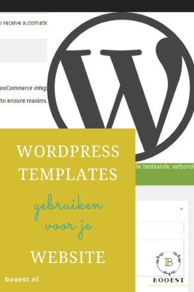 WordPress templates gebruiken voor je website
