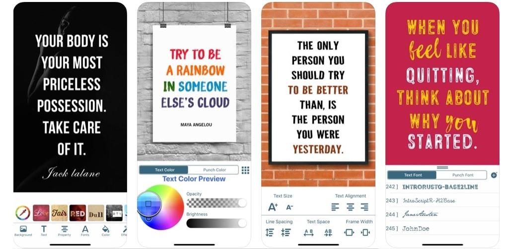Quotes creator app