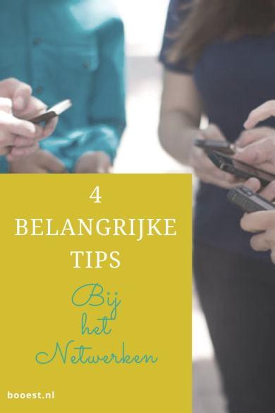 4 belangrijke tips bij het netwerken