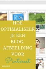 Hoe optimaliseer je een blog-afbeelding voor Pinterest