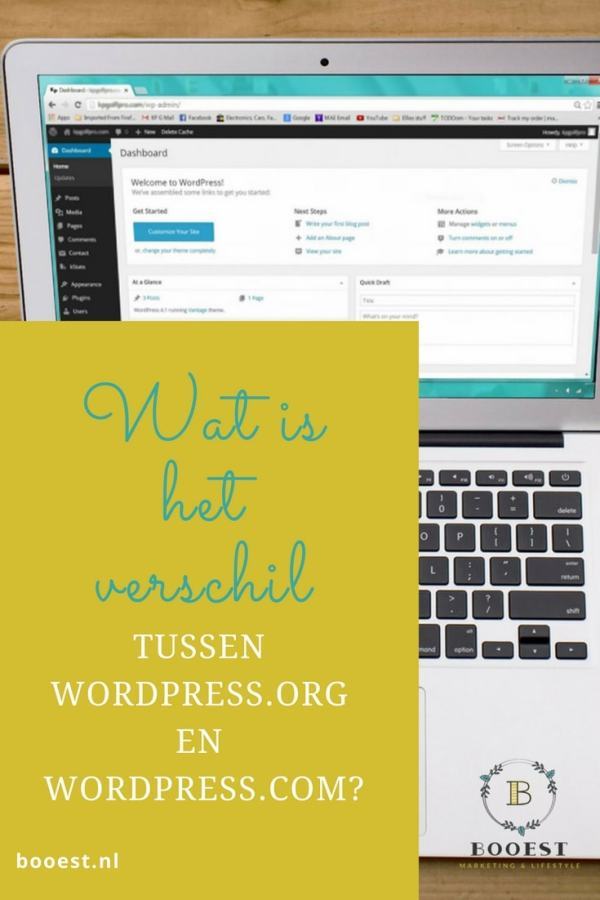 wat is het verschil tussen wordpress.org en wordpress.com