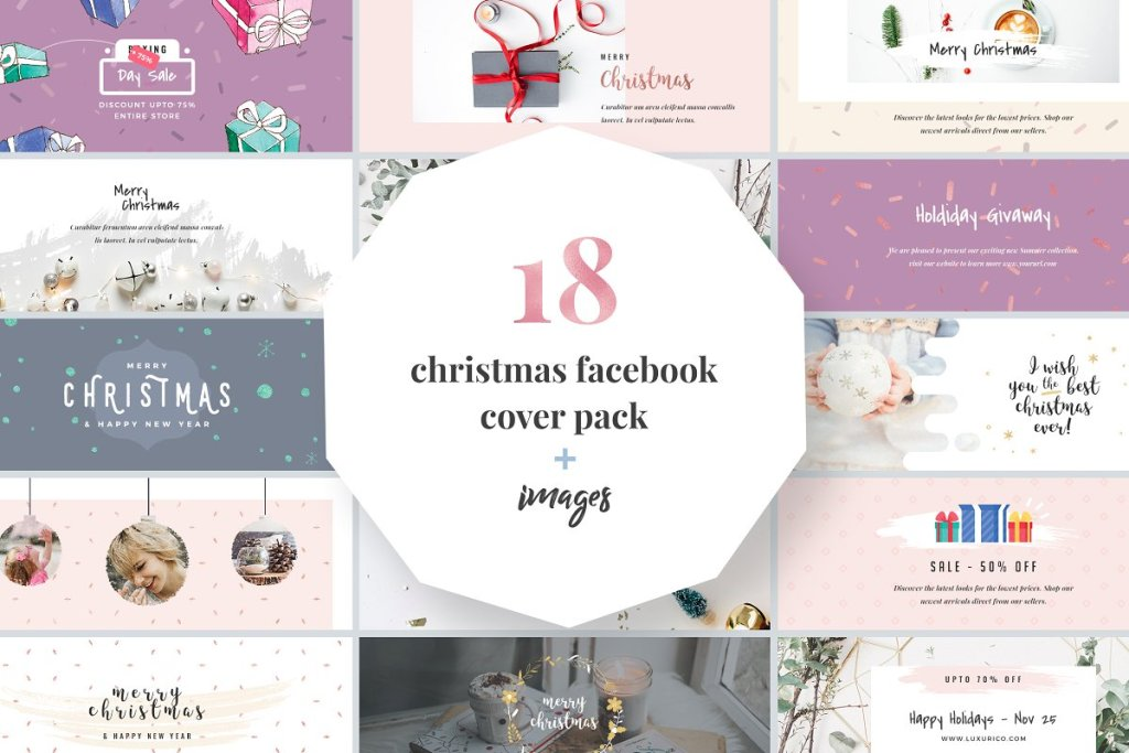 Christmas Facebook Cover Pack www.booest.nl