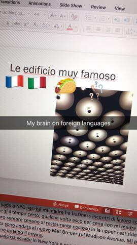 I get languages mixed up