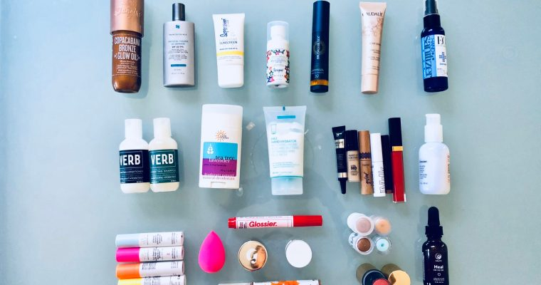 What's in my carry-on: Skincare and makeup