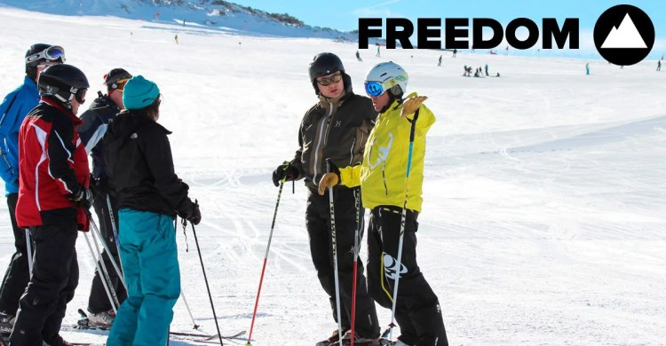 group ski lessons and coaching