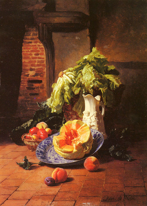 Noter Oil Painting Reproduction - A Still Life With A White Porcelain Pitcher