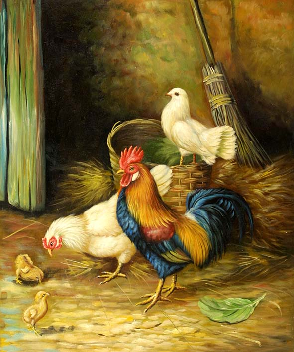 Female Chicken Hen Painting