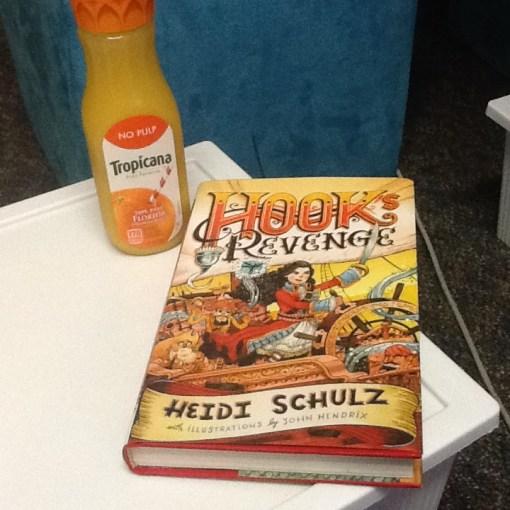 Hook's Revenge Book and a Beverage