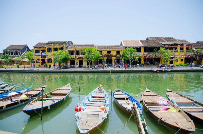 Hoi An boats and architecture