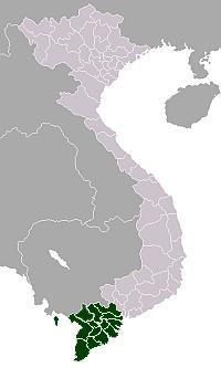 Mekong Delta, Vietnam, map