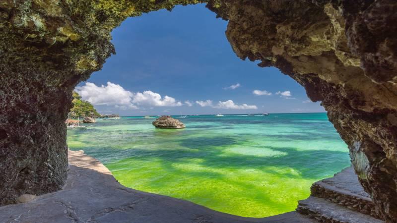 White Beach Cave, Boracay, Philippines
