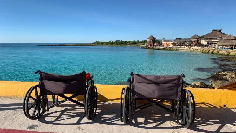 Wheelchairs in Costa Maya, Mexico
