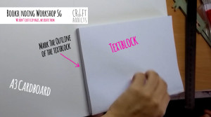 casebinding-preparing your book cover - outline your textblock