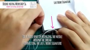 casebinding-end the binding process