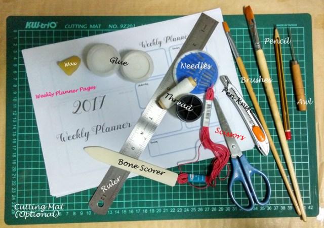2017 weekly planner material