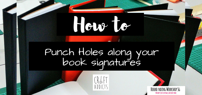 how to punch holes along your book signature