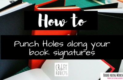 1 Easy Way to Punch Holes on Your Book Signature