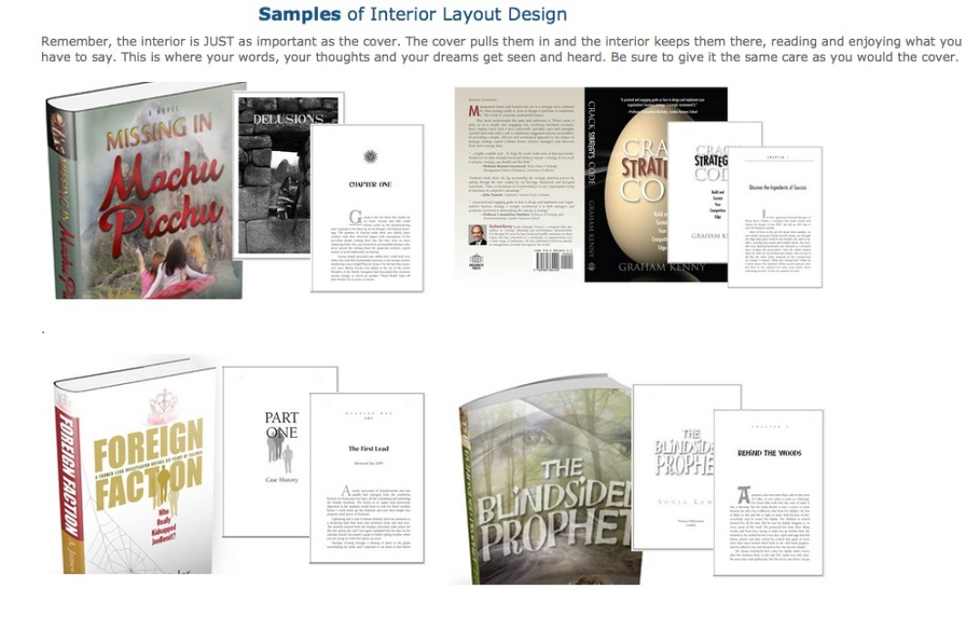 Book Interior Samples by Book Designer Karrie Ross