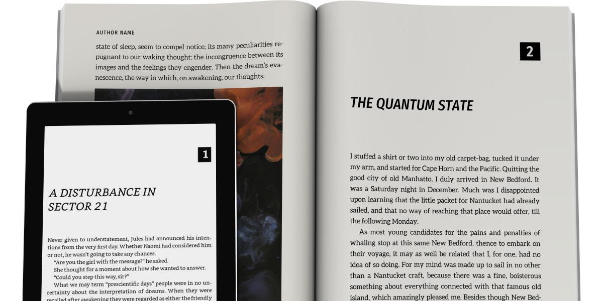 book design templates tools