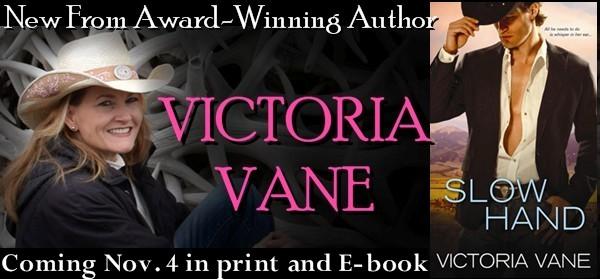 Giveaway Interview SLOW HAND by VICTORIA VANE  @authorvictoriav @sourcebookscasa