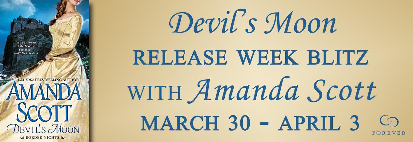 #Giveaway Excerpt DEVIL'S MOON by AMANDA SCOTT @ForeverRomance #ReleaseDayBlast