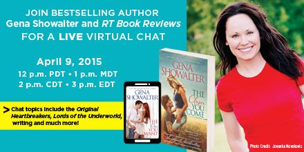 Chat with Gena Showalter! April 9th 12pm Pacific @genashowalter @HQNBooks