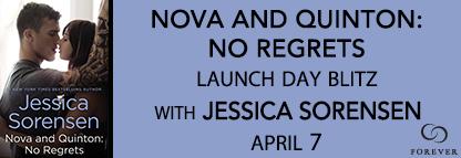Release Day #Giveaway NOVA AND QUINTON NO REGRETS by JESSICA SORENSEN @JessFallenStar @ForeverRomance