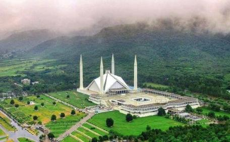 Faisal Mosque Tourism in Pakistan.