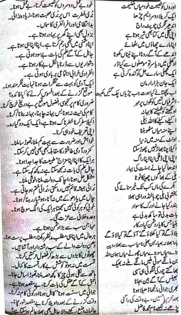 Urdu Muhavare Kahawatain Phrases