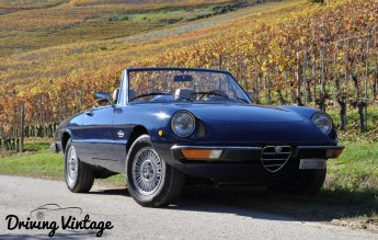 Discovering Langhe driving a classic cabriolet