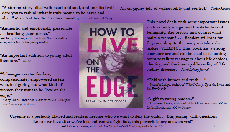 How to Live on the Edge by Sarah Lynn Scheerger: Book Tour