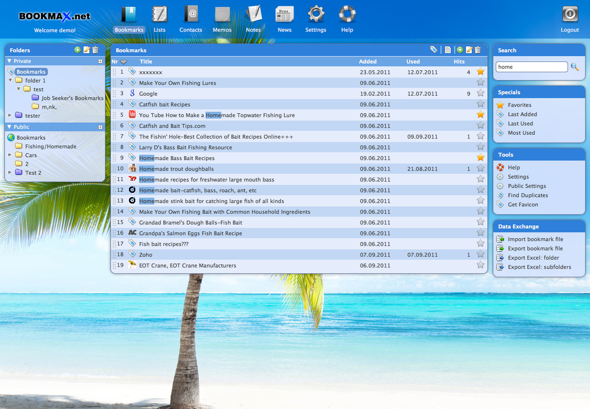 bookmax online bookmark manager