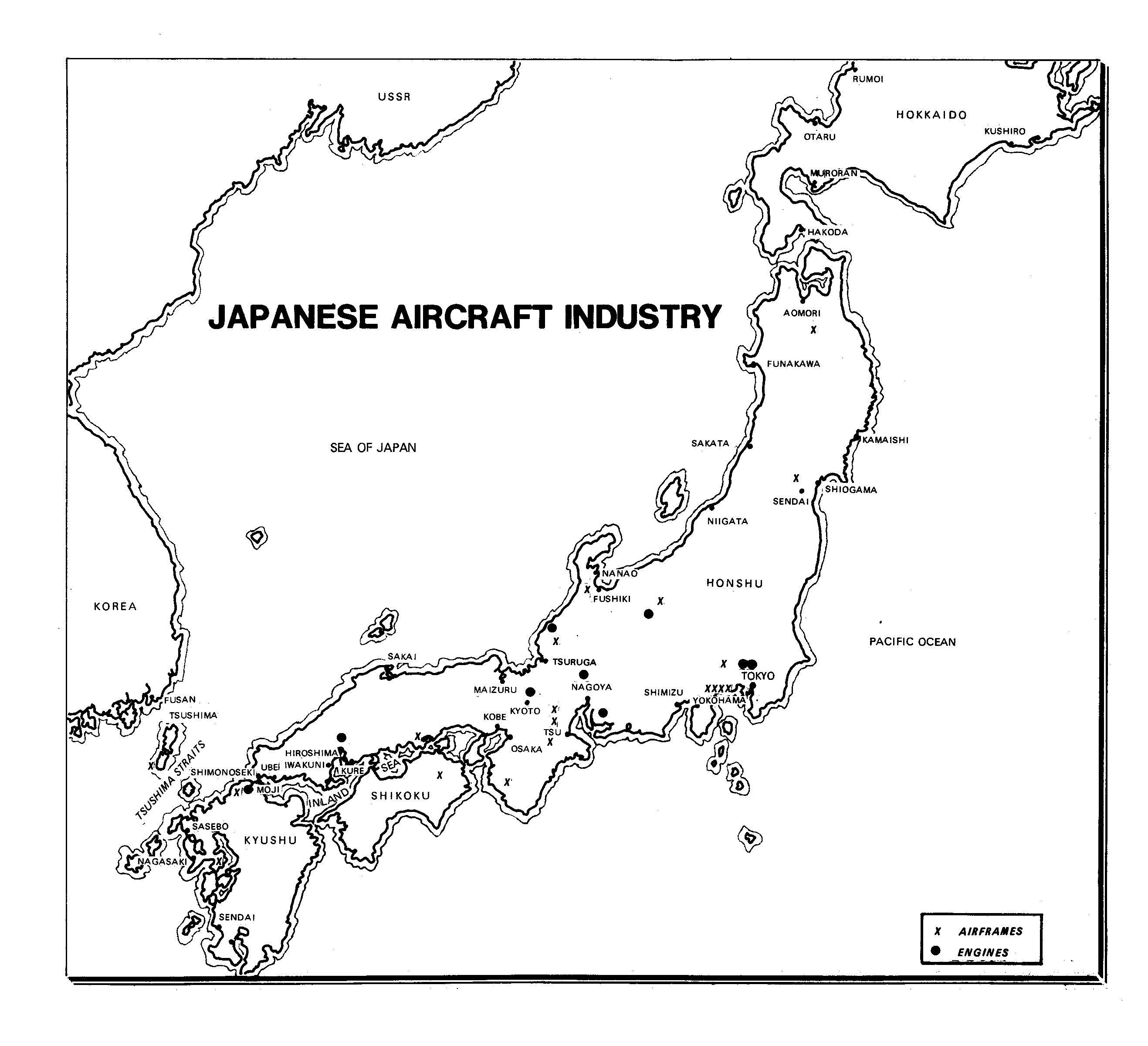 Map Of The Japanese Aircraft Industry