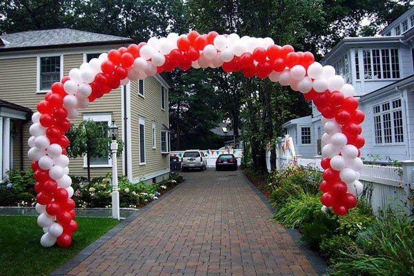 How to make balloon arch at home for birthday party decoration