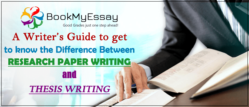 difference between research paper writing and thesis writing