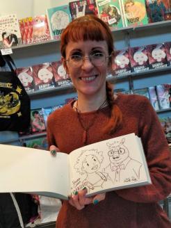 Ines Korth mit meinem Sketchbook