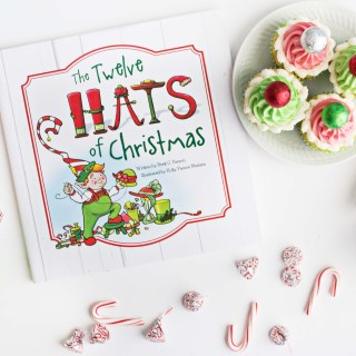 """The Twelve Hats of Christmas"" and Holiday Hat Cupcakes"
