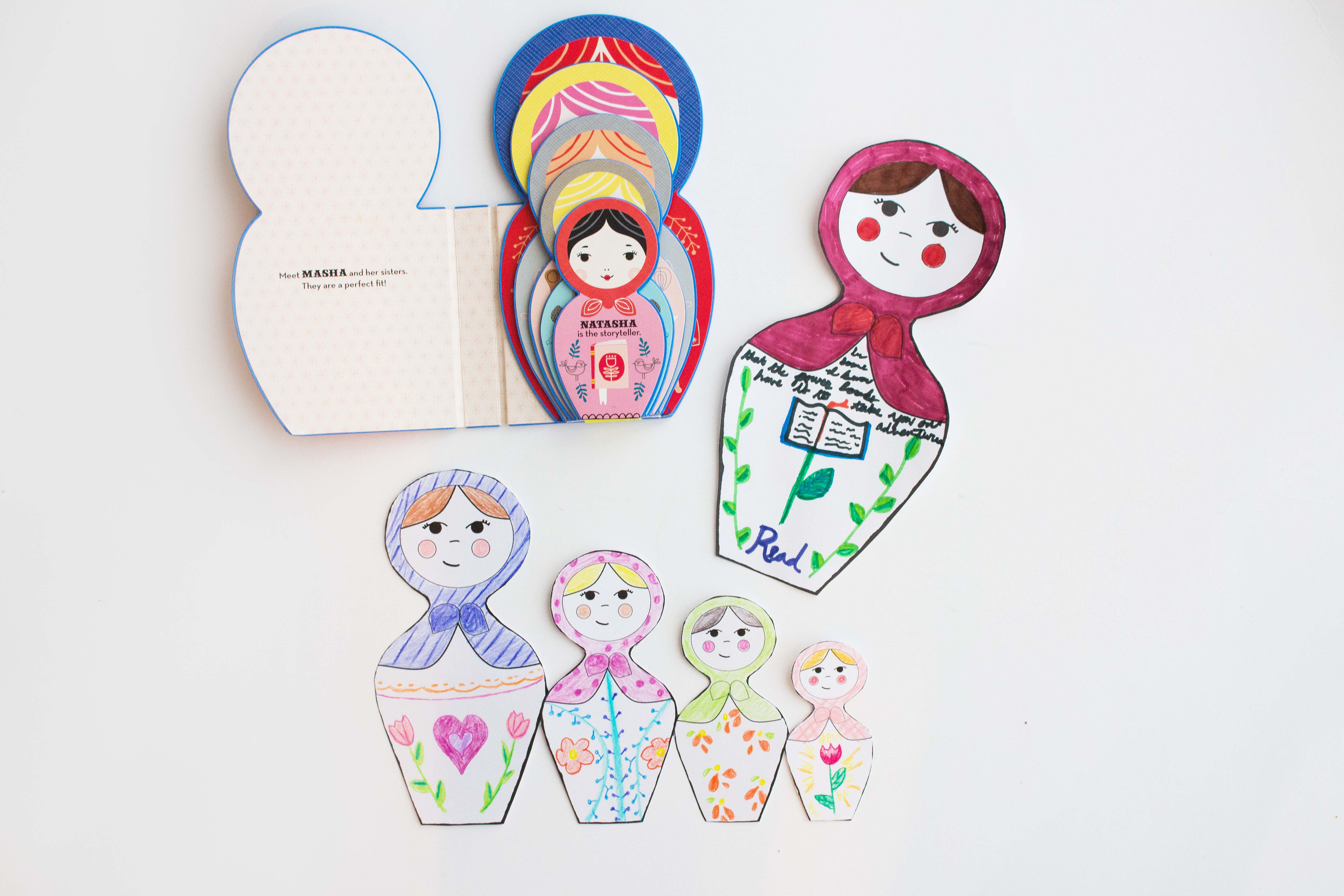 Masha And Her Sisters With Diy Russian Doll Craft Printables