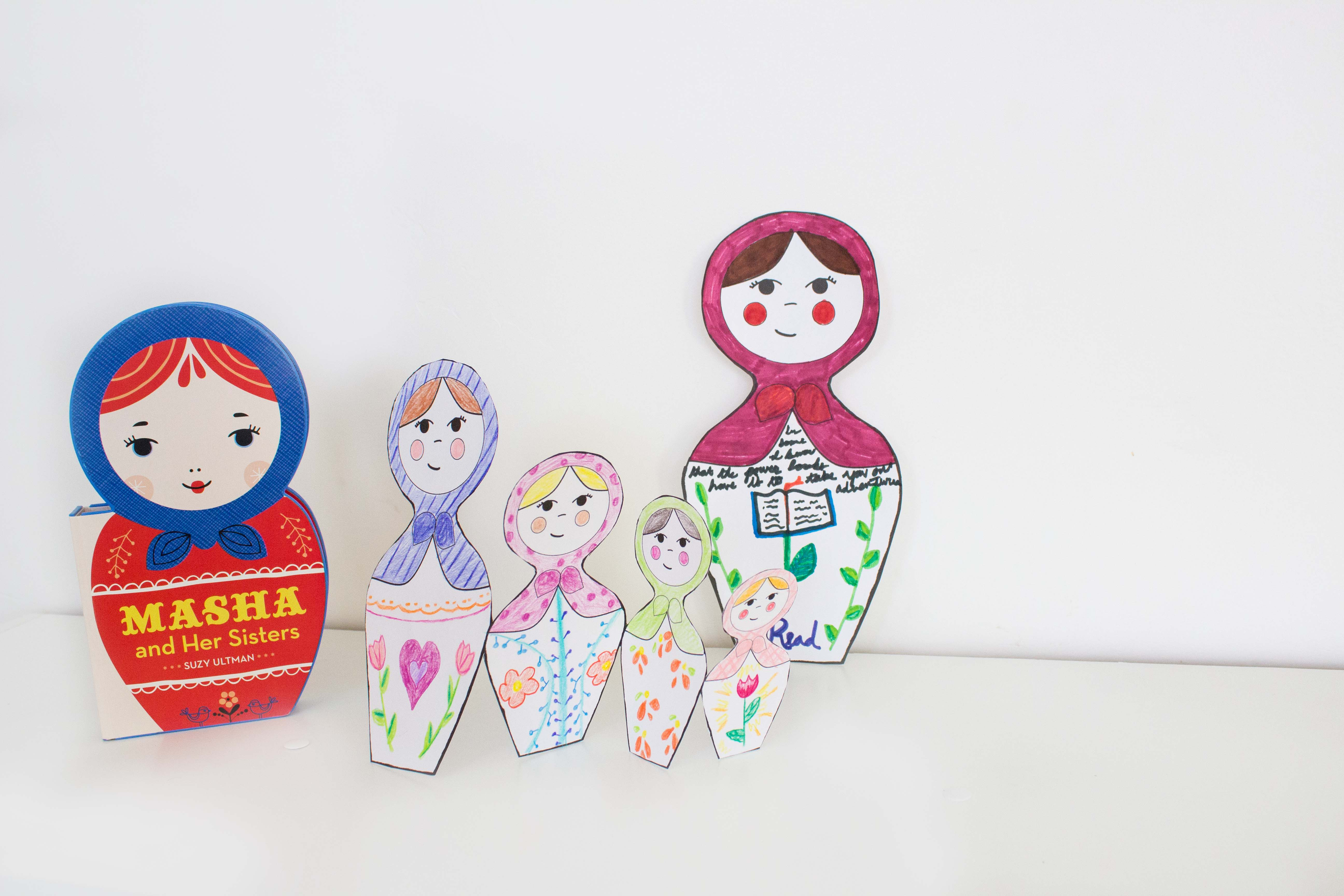 Masha And Her Sisters With Diy Russian Doll Craft Amp Printables Book Nerd Mommy
