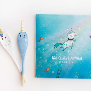 "DIY Spoon Puppets inspired by ""Not Quite Narwhal"""
