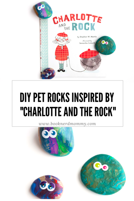 "These basic DIY pet rocks make a great companion activity with the book ""Charlotte and the Rock"".  Plus, they are so much fun for preschoolers and young children for craft time!"