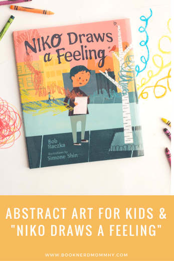 This abstract art activity is so easy and simple to do! Just crayons and paper and your set. Plus it is inspired from the most darling book that makes a fabulous introduction to abstract art.