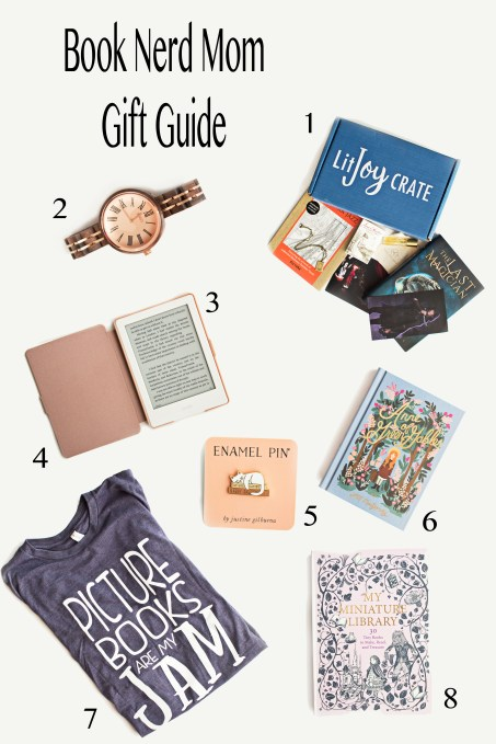 A gift guide for book nerd moms with a wonderful selection of bookish goodies!